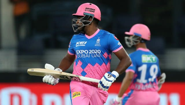 Sanju Samson played an excellent innings for his Rajasthan Royals side, scoring 82 runs in 57 balls. For a while, it looked like he would be able to take RR to a gargantuan total, but after his wicket fell, they crumbled. Photo by Ron Gaunt / Sportzpics for IPL