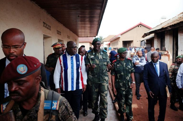 Alongside officials and military personnel, last week President Felix Tshisekedi visited wounded soldiers at a military clinic at Beni General Hospital