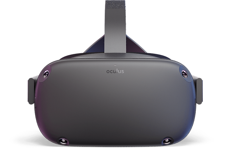 Front view of the Oculus Quest.