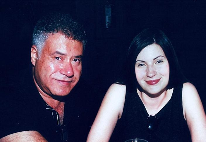 The author with her father in 2008