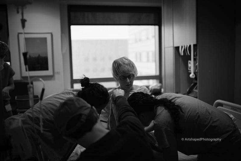 """""""This mom had not one but two amazing nurses who stood by her at every step, making sure she could be as comfortable as possible despite her long labor."""""""
