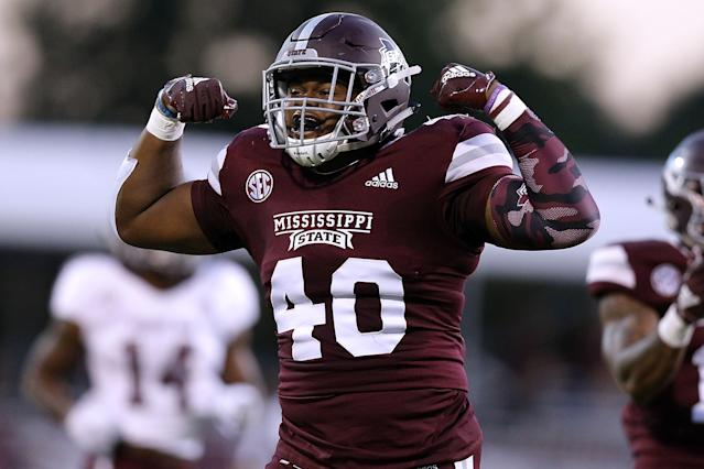Erroll Thompson was Mississippi State's second-leading tackler in 2018. (Photo by Jonathan Bachman/Getty Images)