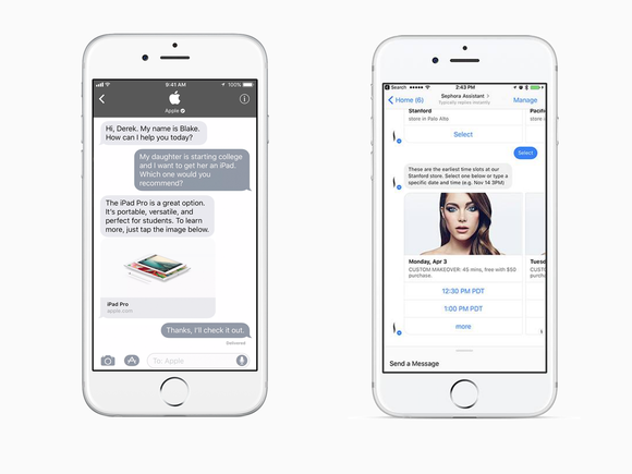 Apple Business Chat compared to Facebook Messenger for Business
