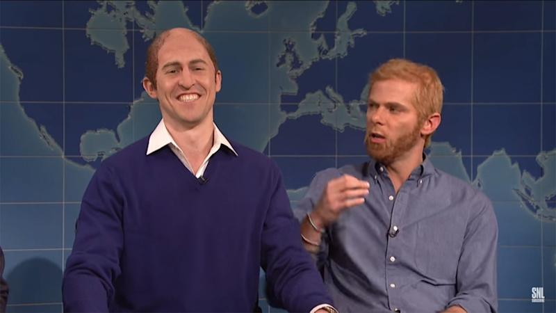 Prince William and Harry (Sort Of) Visit 'Saturday Night Live,' Mock Will's Buzz Cut, Meghan Markle