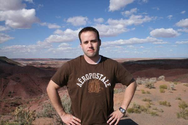 An undated photo of Travis Alexander that Jodi Arias posted to her MySpace page. According to the caption, the photo was taken at the Painted Desert in Arizona.