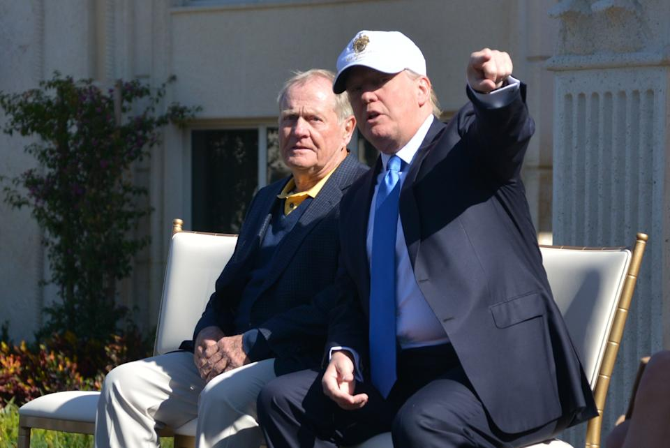 Jack Nicklaus is a known supporter of president Trump, but what does he get out of endorsing him so strongly this late in the election? (Photo by Manny Hernandez/Getty Images)