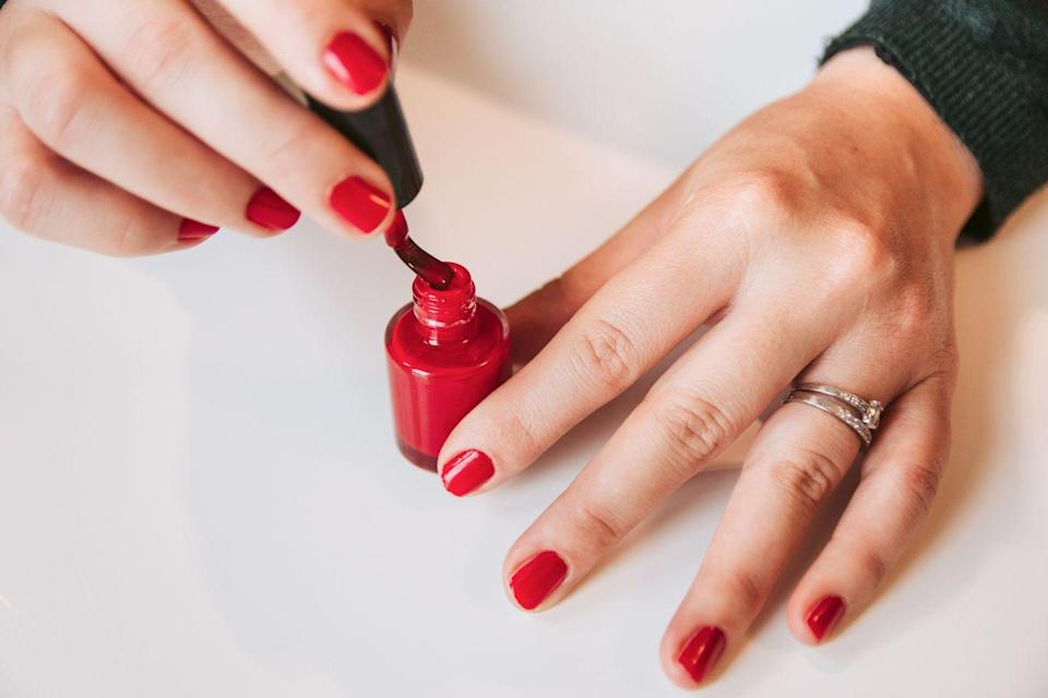 "<p>Be sure that you're in the holiday spirit from your fingers to your toes with a delightful Christmas manicure or pedicure. We're particular fans of the vegan brand <a href=""https://sophinailpolish.com/"" rel=""nofollow noopener"" target=""_blank"" data-ylk=""slk:SOPHi"" class=""link rapid-noclick-resp"">SOPHi</a>.</p>"