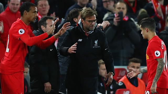 The German opted to introduce Joel Matip when his star player was replaced due to illness, which went against the strengths of his side