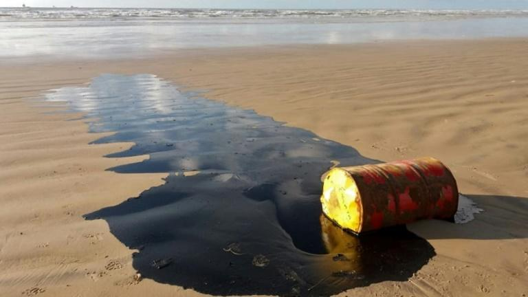 Oil slicks have been appearing off the Brazilian coast for months (AFP Photo/HO)