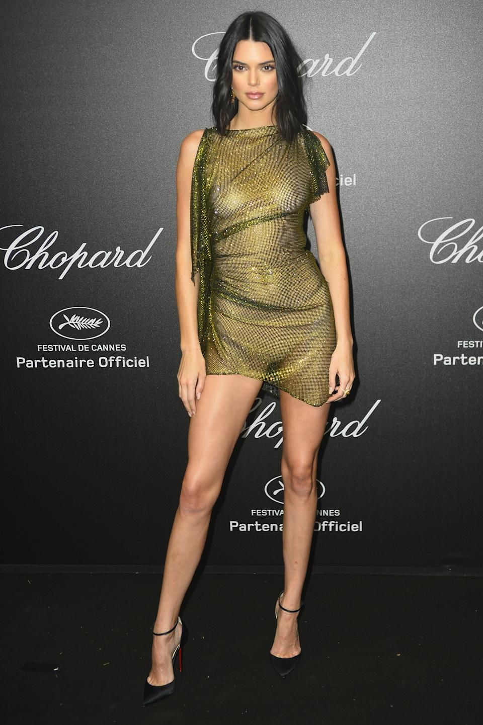 Para <em>naked dress </em>el Alexandre Vauthier que lució en la Chopard Secret Night Party celebrada durante el Festival de Cannes. ¡Sin comentarios! (Foto: Gtres).