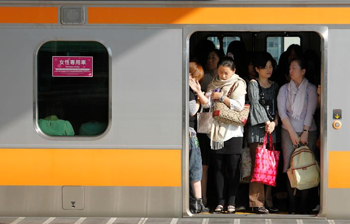 A women-only carriage in Tokyo. (Photo: Yuriko Nakao / Reuters)