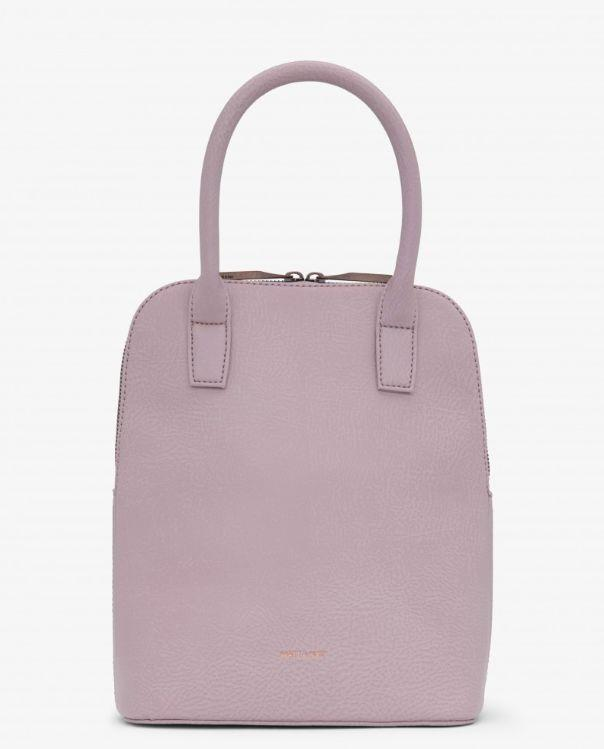 Mala satchel in 'Whisper.' Comes with removable and adjustable crossbody strap. Available in five colours.