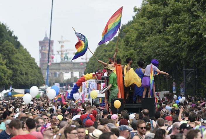 Berlin now has a lively gay scene (AFP Photo/Rainer Jensen)