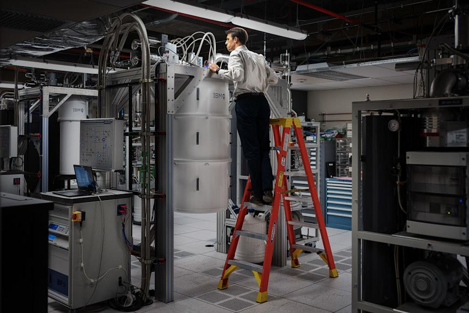 IBM is also a leader in the quantum computing race. See here is its Q System One quantum computer. Source:Getty
