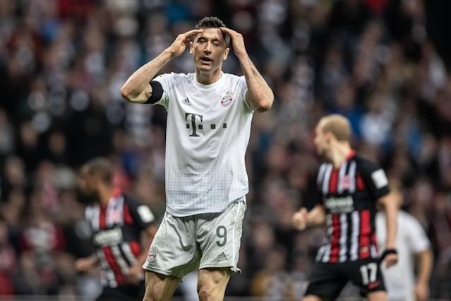 It was a rough weekend for Robert Lewandowski (pictured) and Bayern Munich, as well as other European giants. (Getty)