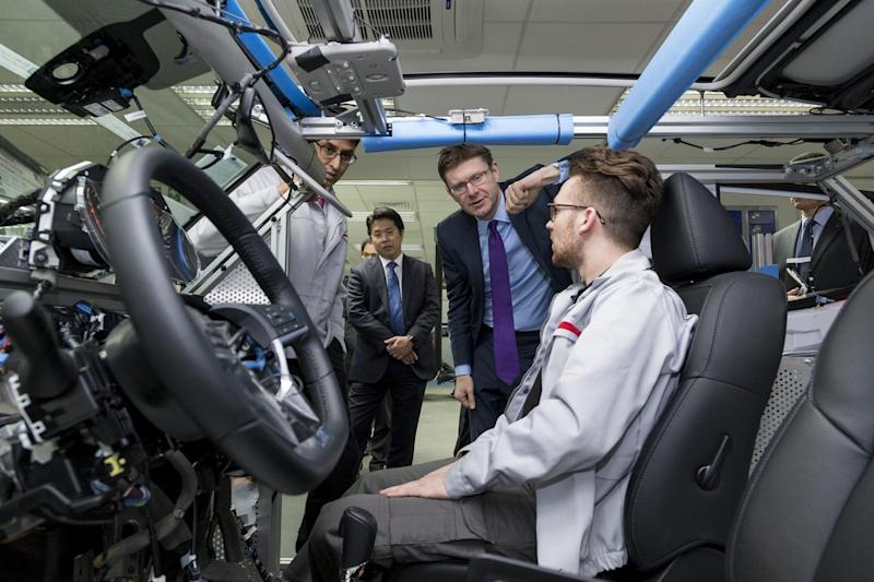 UK Secretary of State Greg Clark visits Nissan's European R&D headquarters to discuss future technology rollout in UK auto industry