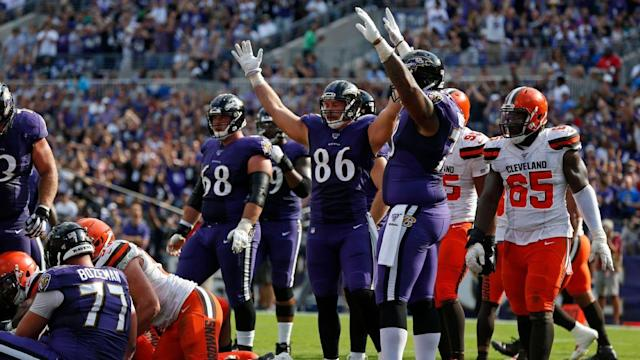 Ravens TE Nick Boyle in pursuit of the NFL's most elusive touchdown catch