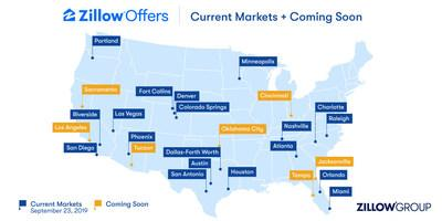 Zillow Offers Markets - September 23, 2019