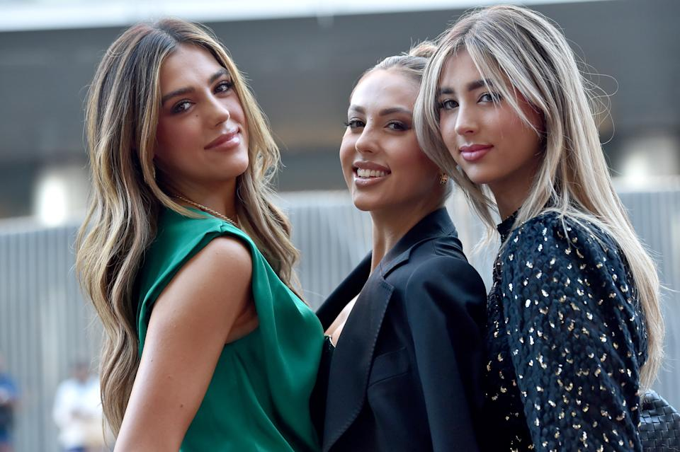 LOS ANGELES, CALIFORNIA - JULY 19: (L-R) Sistine Stallone, Sophia Rose Stallone and Scarlet Rose Stallone attend the Los Angeles Special Screening of Lionsgate's