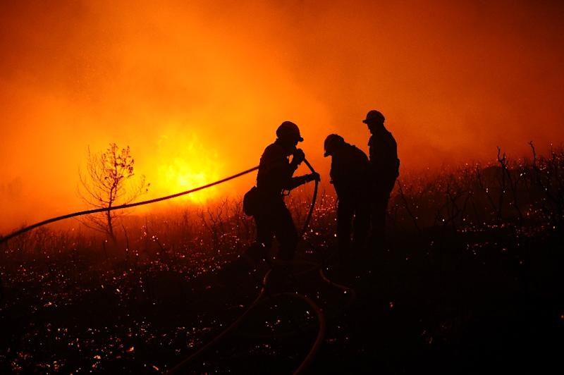 Some 230 firefighters have been dispatched to battle around 100 wildfires that have broken out in northwest Spain