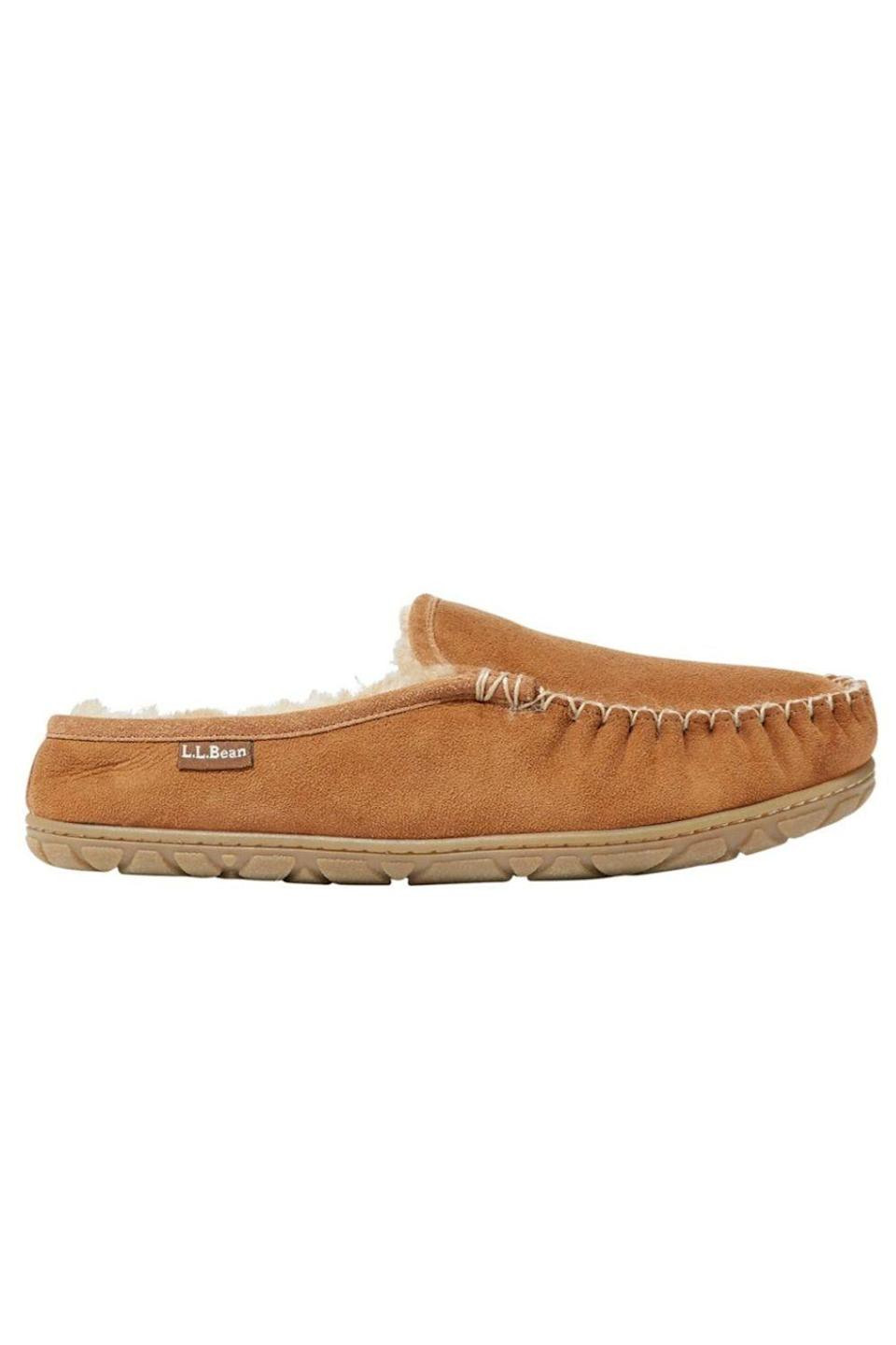 """<p><strong>L.L. Bean</strong></p><p>llbean.com</p><p><strong>$79.00</strong></p><p><a href=""""https://go.redirectingat.com?id=74968X1596630&url=https%3A%2F%2Fwww.llbean.com%2Fllb%2Fshop%2F70638%3Fpage%3Dmens-wicked-good-scuffs&sref=https%3A%2F%2Fwww.oprahdaily.com%2Flife%2Fg32418397%2Fgifts-for-godfather%2F"""" rel=""""nofollow noopener"""" target=""""_blank"""" data-ylk=""""slk:Shop Now"""" class=""""link rapid-noclick-resp"""">Shop Now</a></p><p>If your godfather is also a dad himself, he's working double duty, so make sure he has a pair of cozy slippers to slide on at the end of a long day. This pair is made with superior sheepskin and lined with warm fleece, so he's bound to feel like he's walking on clouds.</p>"""