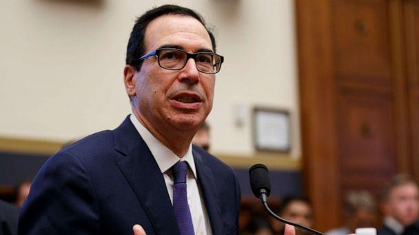 PHOTO: Treasury Secretary Steven Mnuchin testifies before the House Committee on Financial Services on Capitol Hill in Washington, May 22, 2019. (Carolyn Kaster/AP)