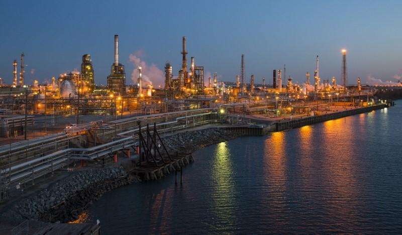 The Philadelphia Energy Solutions oil refinery owned by The Carlyle Group is seen at sunset in Philadelphia