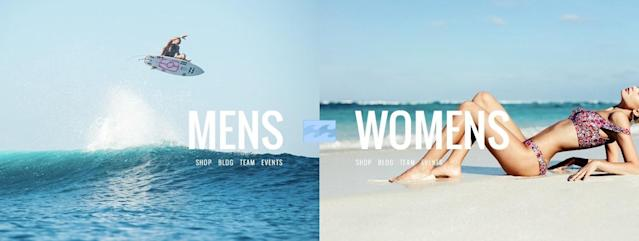 Billabong creates controversy with sexist images. (Photo: Billabong)