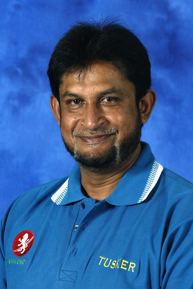 COLOMBO - SEPTEMBER 11:   A portrait of Sandeep Patil the Coach of Kenya taken before the ICC Champions Trophy in Colombo, Sri Lanka on September 11, 2002. (Photo by Clive Mason/Getty Images)