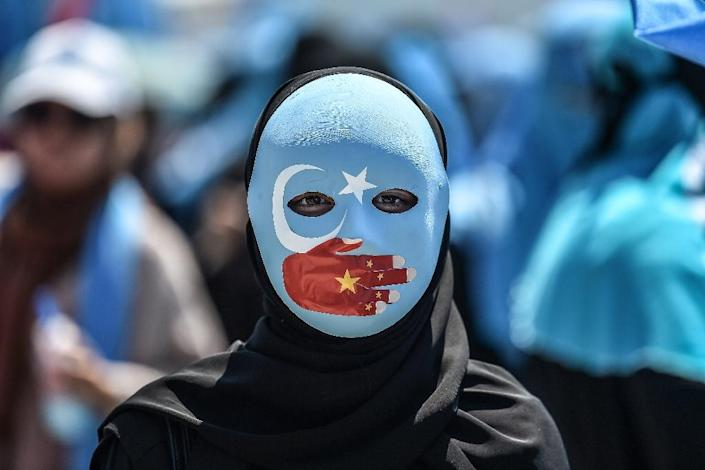 Demonstrators have rallied in Turkey over the plight of China's ethnic minorities (AFP Photo/OZAN KOSE)