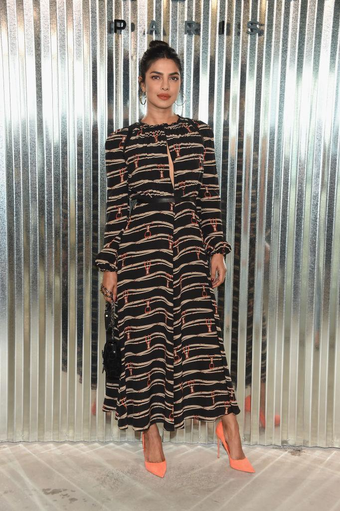 <p>Priyanka Chopra backstage at the Longchamp Spring 2019 show during New York Fashion Week at the World Trade Center on September 8, 2018 in New York City. (Photo: Dimitrios Kambouris/Getty Images) </p>
