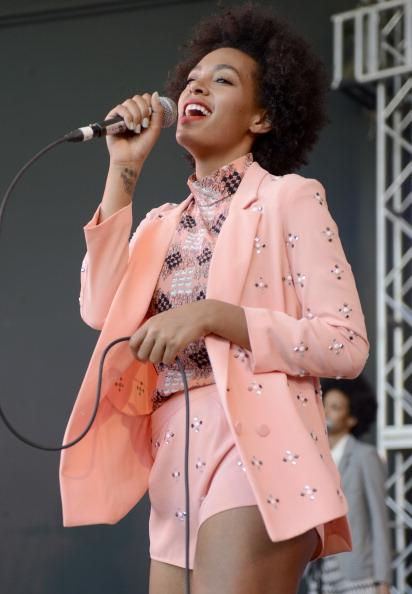 Solange Knowles aka Solange performs at the Spin Party at Stubbs Bar-B-Que on March 15, 2013 in Austin, Texas.