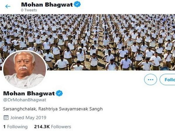 Twitter restores verified blue tick of RSS chief Mohan Bhagwat's handle (Photo/ANI)