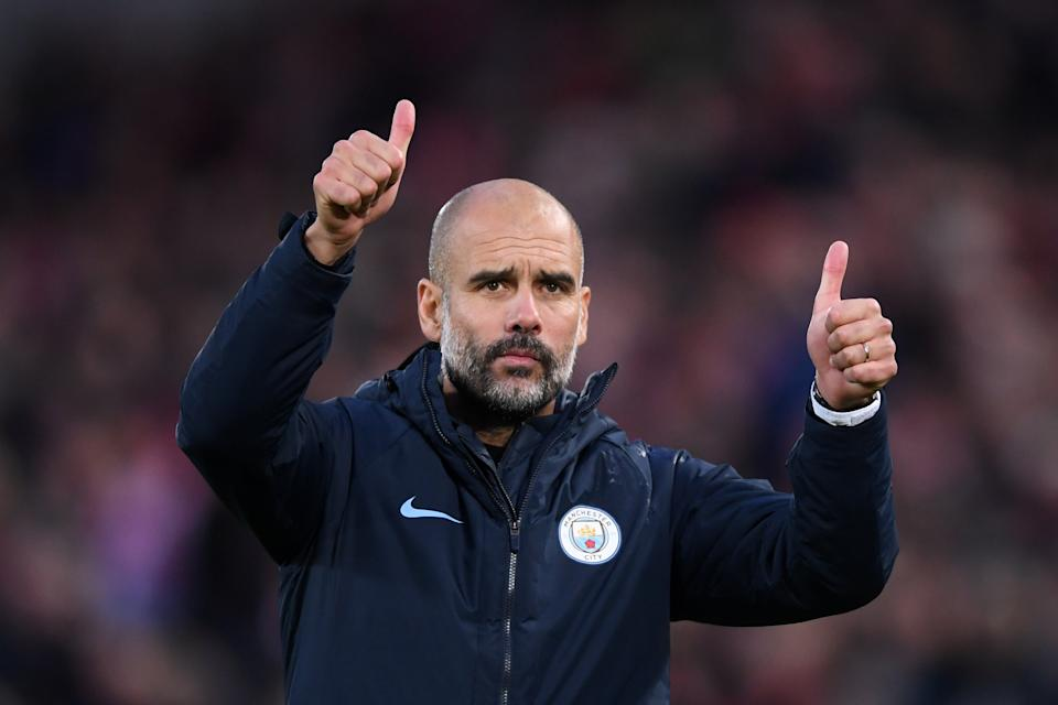 <p>Pep Guardiola has led Man City to two Premier Leauge titles</p>Getty Images