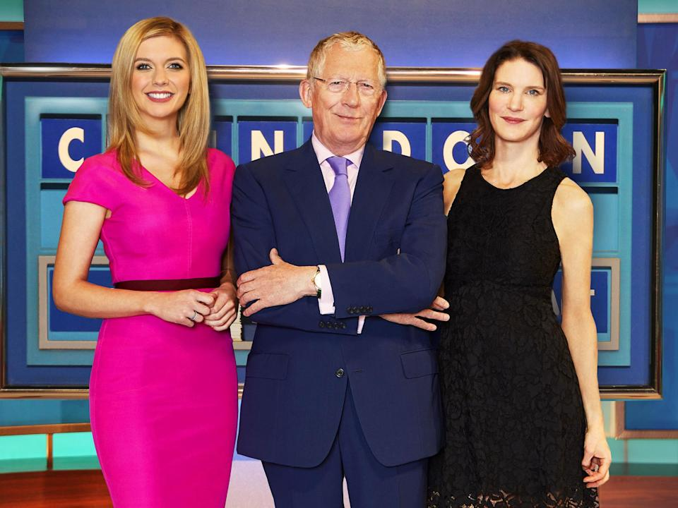 Dent (left) with Rachel Riley and Nick Hewer on Channel 4's 'Countdown'Alan Strutt/Channel 4