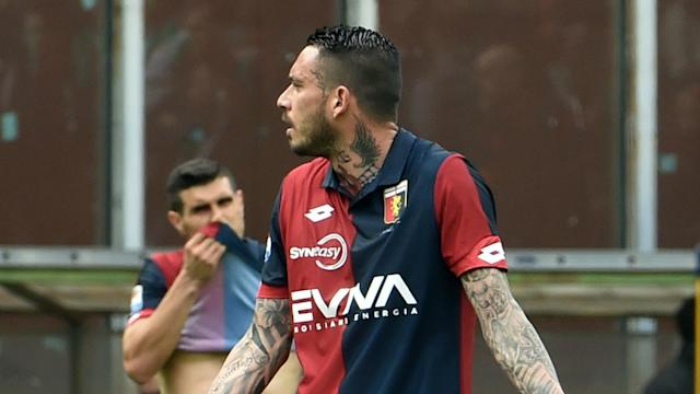 Serie A's disciplinary commission has given Mauricio Pinilla a five-match ban after his dismissal during Genoa's 5-0 loss to Atalanta.