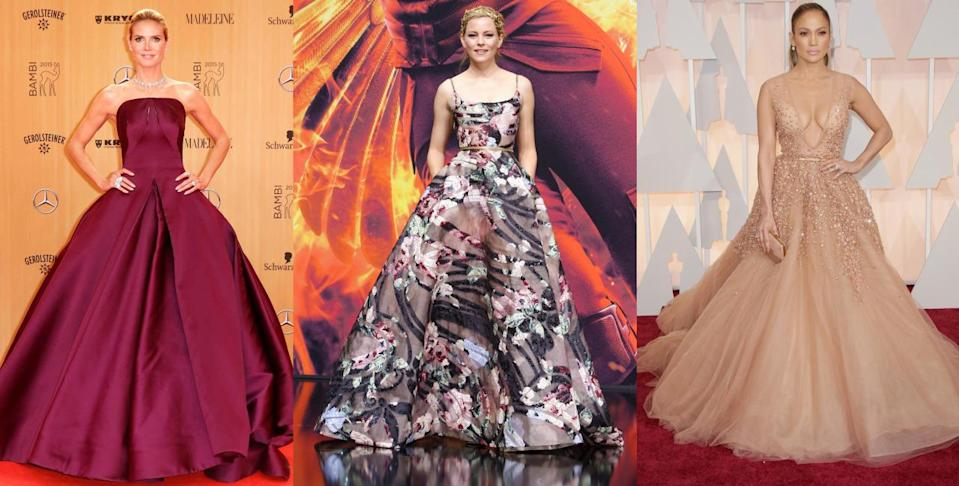 Regal ensembles have graced numerous red carpet events this year, and we couldn't be happier. [Photo: Rex/Yahoo Style UK]