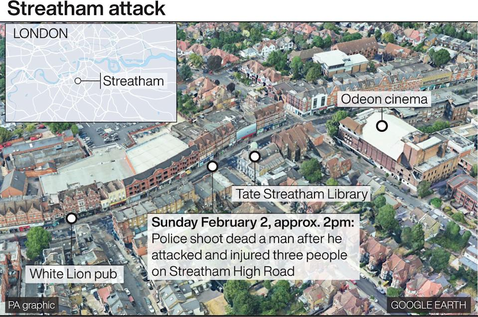 Streatham machete attack: How it happened (PA)