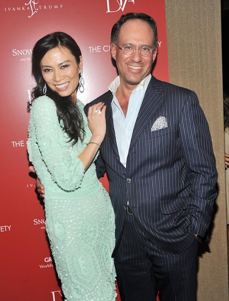 """NEW YORK, NY - JULY 13:  Producer Wendi Murdoch and founder of The Cinema Society Andrew Saffir attend The Cinema Society with Ivanka Trump Jewelry & Diane Von Furstenberg screening of """"Snow Flower And The Secret Fan"""" at the Tribeca Grand Hotel on July 13, 2011 in New York City.  (Photo by Stephen Lovekin/Getty Images)"""