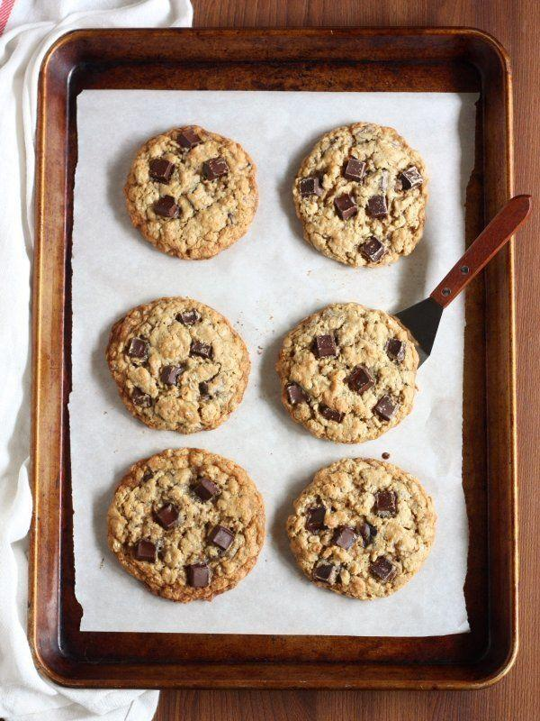 """<strong>Get the <a href=""""http://www.completelydelicious.com/oatmeal-chocolate-chunk-cookies/"""" target=""""_blank"""">Oatmeal Chocolate Chunk Cookies recipe</a>from Completely Delicious</strong>"""