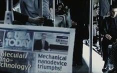 An e-newspaper from the film Minority Report based on Philip K Dick's short story