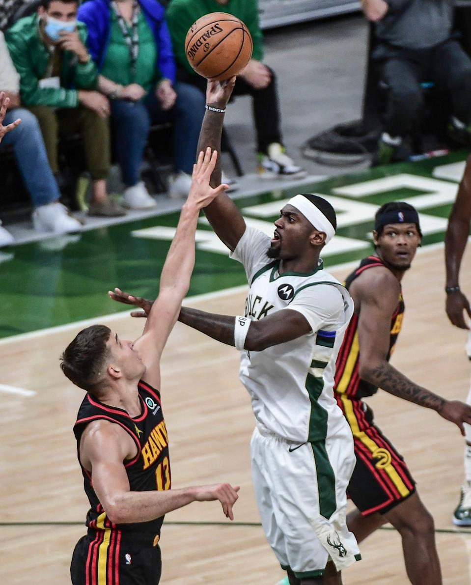 Bobby Portis scored a career-playoff-high 22 points in the Bucks' Game 5 win over the Hawks.