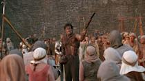 """<p>""""Shop Smart. Shop, S-Mart.""""</p><p>Depending on who you ask, Sam Raimi's <em><a href=""""https://www.amazon.com/Army-Darkness-Bruce-Campbell/dp/B002KC8BSO/?tag=syn-yahoo-20&ascsubtag=%5Bartid%7C2089.g.35650609%5Bsrc%7Cyahoo-us"""" rel=""""nofollow noopener"""" target=""""_blank"""" data-ylk=""""slk:Army of Darkness"""" class=""""link rapid-noclick-resp"""">Army of Darkness</a></em> is either the best sequel to any film ever, or the worst—there isn't much room in between. The chainsaw-toting Ashley """"Ash"""" Williams is tossed back to medieval times where he must fight off a horde of <a href=""""https://www.popularmechanics.com/culture/movies/g30714252/best-zombie-movies/"""" rel=""""nofollow noopener"""" target=""""_blank"""" data-ylk=""""slk:undead monstrosities"""" class=""""link rapid-noclick-resp"""">undead monstrosities</a> with only his ingenuity and his """"boom stick.""""</p><p>Even though it's slapstick comedy with wonderfully B-movie action sequences, it remains an absolute joy to watch.</p>"""
