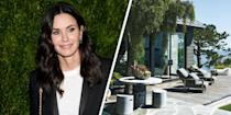 "<p>Actress Courtney Cox's private <a href=""https://www.elledecor.com/celebrity-style/celebrity-homes/g1366/courteney-coxs-private-retreat/"" rel=""nofollow noopener"" target=""_blank"" data-ylk=""slk:Malibu retreat"" class=""link rapid-noclick-resp"">Malibu retreat</a> has all you'd ever want in a home. Renovated by architect Michael Kovac and designed by Trip Haenisch, the sleek, modernist home includes guest cottages, a tennis house, a screening room, and a luxurious outdoor area complete with a custom-made banquette and a teak-and-steel lava-rock fire pit.<br></p>"