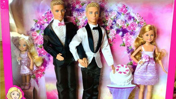 PHOTO: When engaged couple Matt Jacobi and Nick Caprio couldn't find a same-sex Barbie wedding couple to gift their niece, they made their own. (Matt Jacobi )