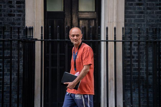 LONDON, ENGLAND - MAY 24: Dominic Cummings, special adviser to the prime minister, leaves 10 Downing Street on May 24, 2020 in London, England. On March 31st 2020 Downing Street confirmed to journalists that Dominic Cummings was self-isolating with COVID-19 symptoms at his home in North London. Durham police have confirmed that he was actually hundreds of miles away at his parent's house in the city. (Photo by Chris J Ratcliffe/Getty Images) (Photo: Chris J Ratcliffe via Getty Images)