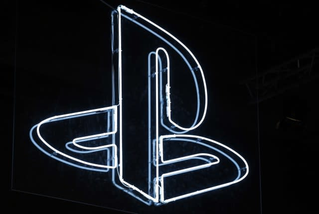PARIS, FRANCE - NOVEMBER 04: PlayStation logo is displayed during the 'Paris Games Week' on November 04, 2017 in Paris, France. PlayStation is a series of video game consoles created and developed by Sony Interactive Entertainment. 'Paris Games Week' is an international trade fair for video games and runs from November 01 to November 5, 2017. (Photo by Chesnot/Getty Images)