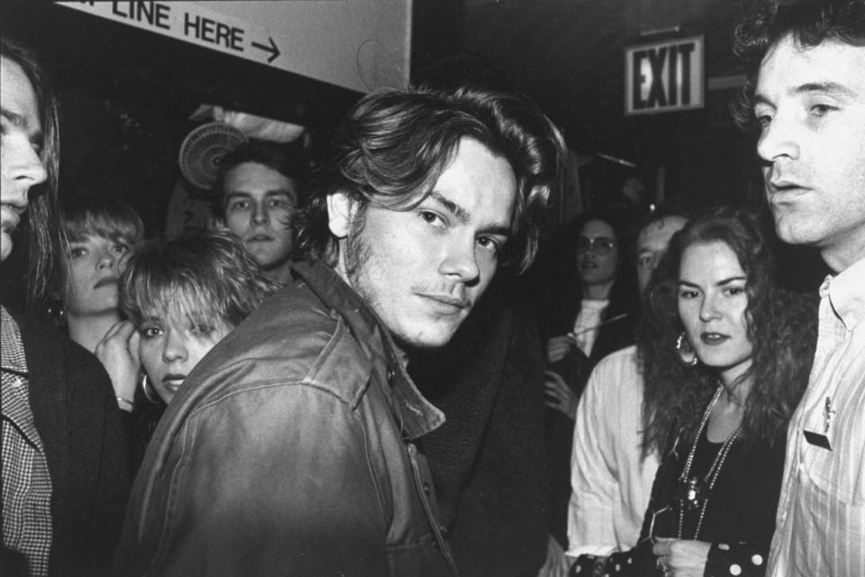 Actor River Phoenix attending an Artists Against Fur event. (Photo by Robin Platzer/Twin Images/The LIFE Images Collection via Getty Images/Getty Images)
