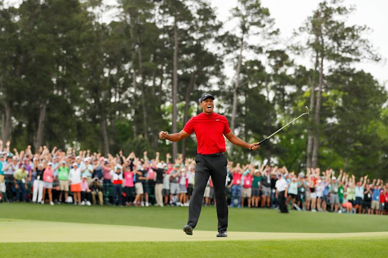 Tiger Woods' winning Masters putt already has 7.4 million more views than Patrick Reed's from a year ago