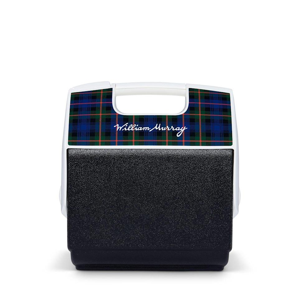 """<p><strong>igloo</strong></p><p>igloocoolers.com</p><p><strong>$39.99</strong></p><p><a href=""""https://www.igloocoolers.com/products/william-murray-golf-cooler"""" rel=""""nofollow noopener"""" target=""""_blank"""" data-ylk=""""slk:BUY IT HERE"""" class=""""link rapid-noclick-resp"""">BUY IT HERE</a></p><p>Don't mess with a classic. While you can shell out serious greenbacks for cooler with more bells and whistles, this lovably retro model collab from William Murray and Igloo will do its job: keep your frosty brews ice-cold while you're out playing 18.</p>"""